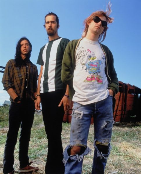 Rock Band Nirvana --- Image by © Mark Seliger/CORBIS OUTLINE
